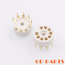 PCB Mount B9A 9 Pin Plastic Tube Sockets Valve Tube Base For 12AX7 6DJ8 ECC83 5670 6922 EL84 12AU7 12AT7 Gold Plated