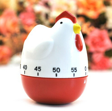 60 Minutes Cute Hen Style Kitchen Timer Dial Timing Controler Mechanical Countdowner Reminders Alarm Clock Free Shipping(China)
