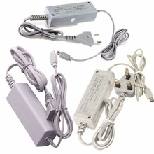 Hot Sale 100V-240V EU UK US Type Plug AC Adapter Wall Power Supply Cord For Nintendo For Wii U Gamepad Controller NEW