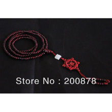 BRO605 Indian 216 beads Prayer Malas Simulent Red Sandalwood Rosary Bracelets 4*3mm lovely slim necklace for girl 10pcs lot