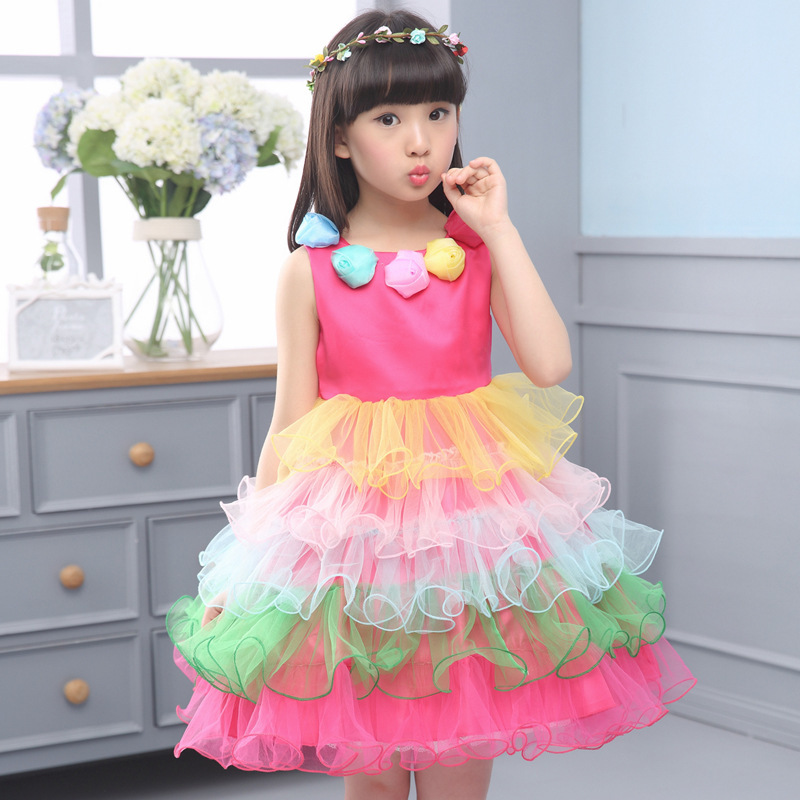 Children Show Clothing Girl Thick And Disorderly Performance FLOWER Fairy Children Dance Dress Kids Clothing <br>