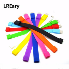 Colorful bracelet USB flash drive disk memory stick WristBand Pen drive personalized mini PC gift pendrive 4gb 8gb 16gb 32gb(China)
