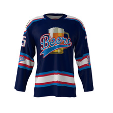 Latest Design Beers Logo #75 Custom Ice hockey Jersey Men's USA/CANADA XS-3XL Size Collage Training Hockey Ball Shirts Jerseys