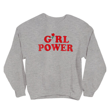 Girl Power Hoodies Women Fashion Red Rose Letter Printed Cute Graphic Sweatshirts Crewneck Long Sleeve Casual Pullover