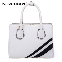 NeverOut Women Bag Fashion Brand Name Casual Tote New Arrival Split Leather Handbags Female Top-Handle Bags Lady Crossbody Bags(China)
