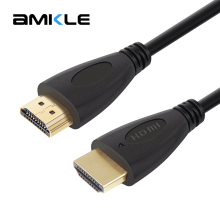 Amkle HDMI Cable HDMI Male to HDMI Male HDMI Gold Plated 1.4 HD 1080P 3D for LCD DVD HDTV XBOX PS3 Projector Computer Cables(China)
