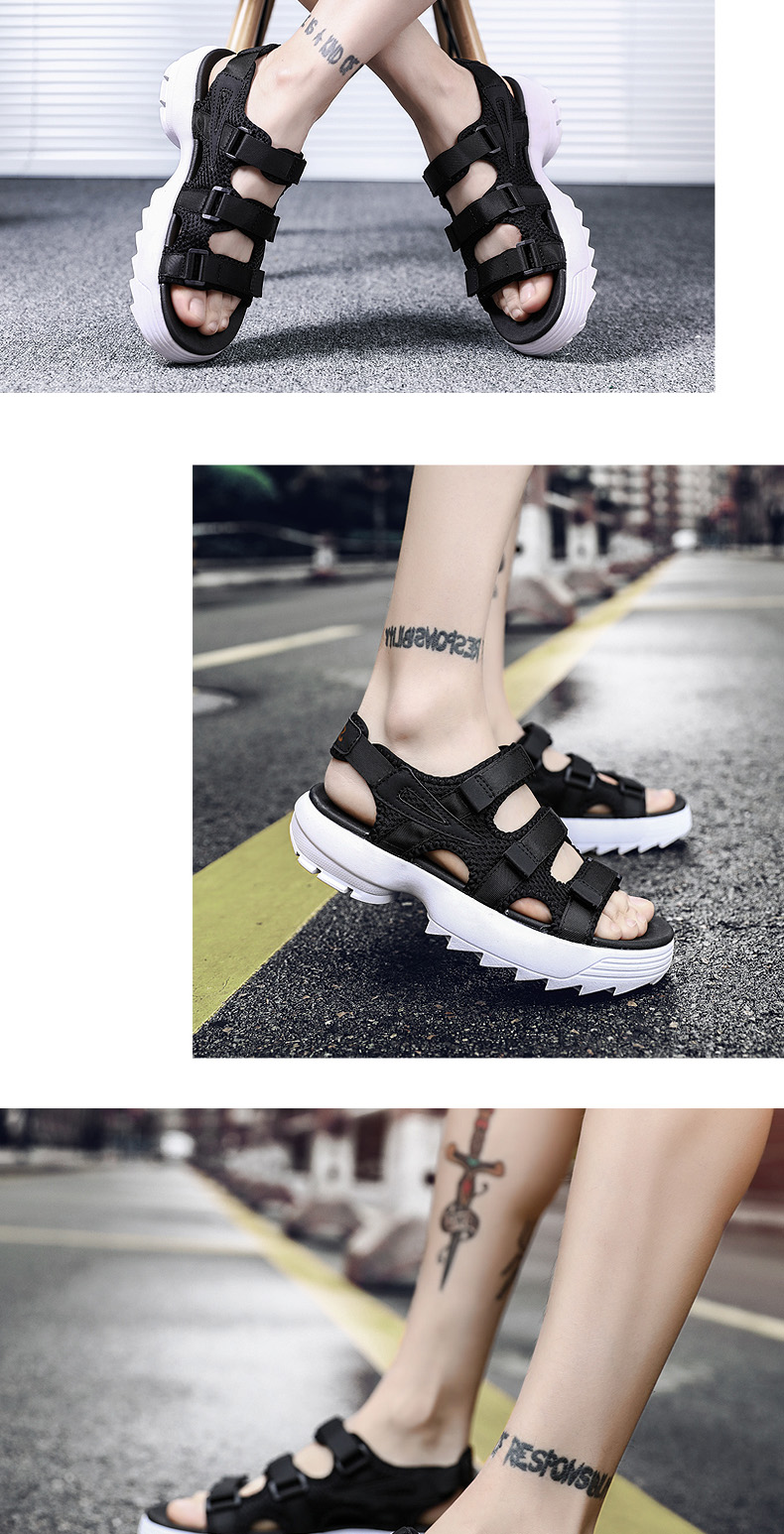 Sandals Men's Beach Shoes Summer Sports Korean Version Of The Trend Increase Big Sandals And Slippers Summer Boys Tide 14 Online shopping Bangladesh