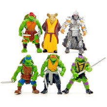 6Pcs/set Turtles cartoon Action Figures Toy Set Classic Collection model toy(China)