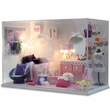 New Cutroom Doll House DIY Handmade Miniatura Furniture 3D Dollhouse Toys Lover Girlfriend Gifts Dream Princess DollHouse Series