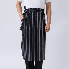 Restaurant Hotel Bar Unisex Waist Apron Waiter Server Chef Cooking Work Half Body Apron Cleaning Kitchen Cook Apron(China)