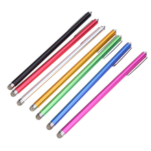 1pc Universal Metal Capacitive Pen Micro-Fiber Touch Screen Stylus Pen for iPad iPhone iPod Smartphone Tablets(China)