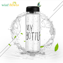 Wind flower My Bottle 500Ml Fashion Sport My Bottle Lemon Juice Readily Space Drinking Water Bottles For Best Gift(China)
