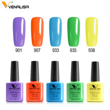Venalisa New nail manicure gel varnish soak off cover private label led long lasting canni color nail paint gel gel nail polish(China)