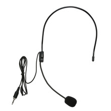 Mini Portable Microphone Lightweight Condenser 3.5mm Jack Handsfree Teacher Microphone for Teaching Tour Guide
