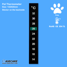 10pcs/lot Free Shipping Pet Thermometer for Dogs, Cats, Birds, Reptiles and Amphibians, 14-32 degree(China)