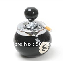 Free Shipping lucky billiard ball shape cigarette ashtray cigar holder best gift for father boyfriend Hot sale D-618(China)