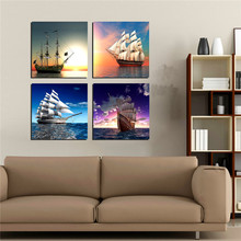 Multi Panel Canvas Wall Art Painting Sail On Sea Seascape Ships Artistic Paintings Wall Pictures For Living Room Study No Frame