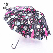 Leaves flower Long-handle Women's umbrella New Creative Novelty Manually Apollo umbrella Arch style Galleria umbrella Y36