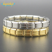 Hapiship 2017 New Fashion Man/Women's Jewelry Gold/Silver Letter Stainless Steel Wish Bracelet Bangle Friend Birthday Gift G001(China)