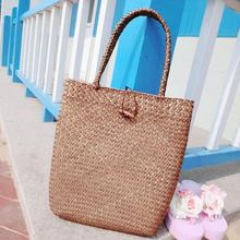 Retro Summer Women Beach Bag Handmade Cool Braid Straw Large Tote Bag Beach Shoulder Bag Handbag Straw Bag
