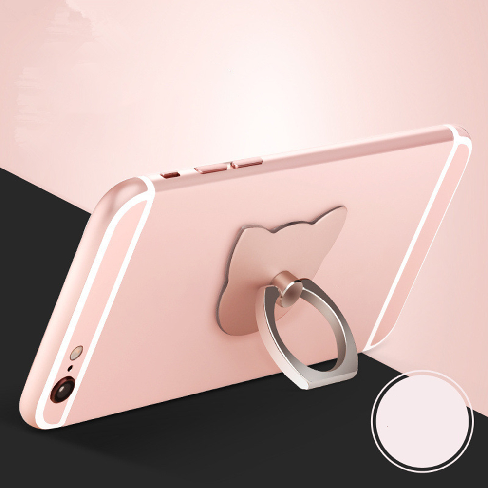 JETTING Universal Metal Mirror Metal Hand Stand Holder Desk Car for Samsung for iPhone 6s plus/7 Finger Ring Mobile Cell Phone