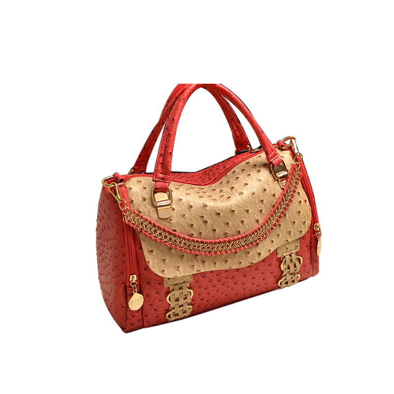 Maras dream Women european and American style Lovely delicate ostrich single shoulder bag handbag across two colors can choose<br><br>Aliexpress