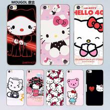 MOUGOL lovely Hello Kitty design transparent clear hard Case for Xiaomi Mi 5 5s Plus 4 4s redmi note 4 3 4Pro
