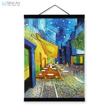 Cafe Modern Impressionism Famous Artist Vincent Van Gogh Art Print Poster Wall Picture Canvas Oil Painting Restaurant Home Decor(China)