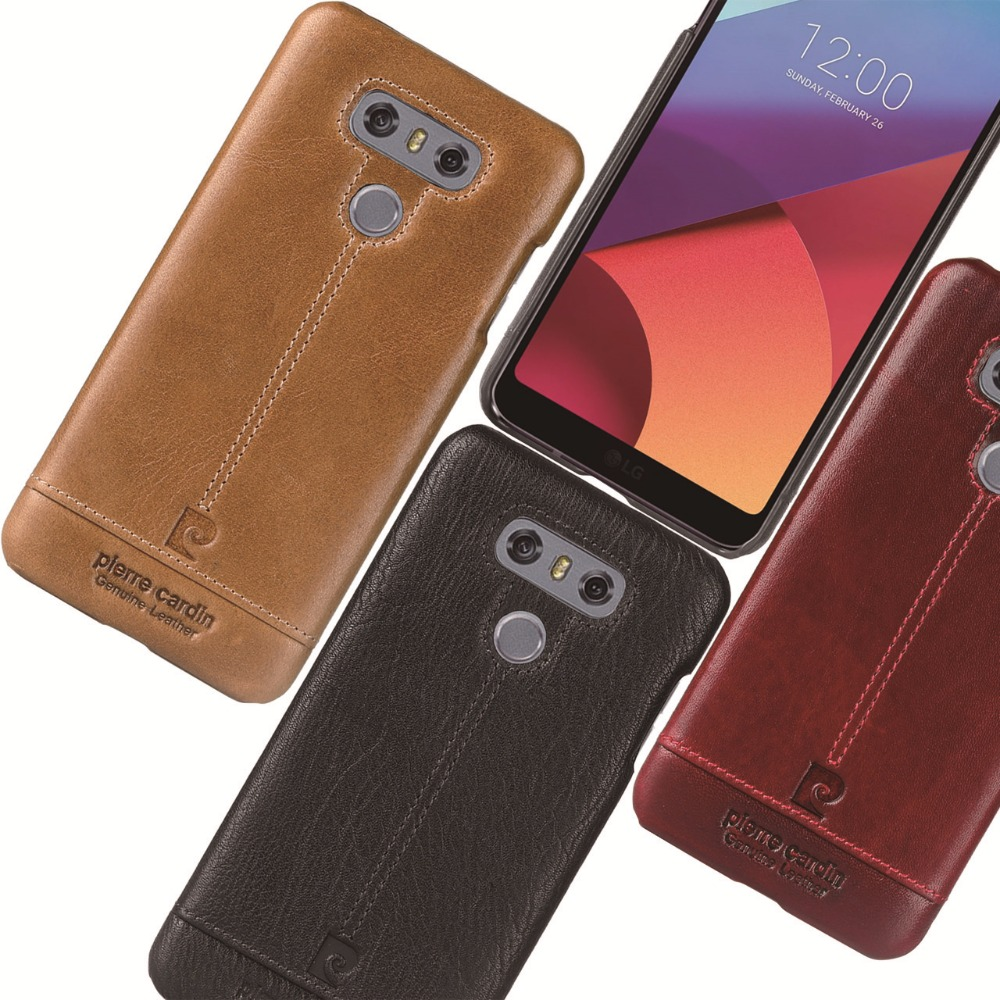 For LG G6 Case Luxury Genuine Leather Hard Slim Cover (1)