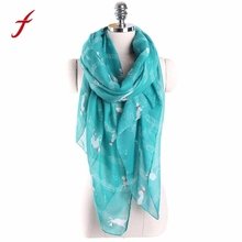 New Fashion Trendy Scarf Women Ladies Musical Note Cat Printed Pattern Long Scarf Warm Wrap Shawl echarpes foulards femme(China)
