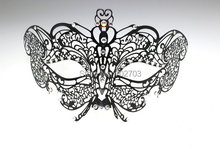 Black Luxury Masquerade graceful butterfly Mask party laser cut metal mask