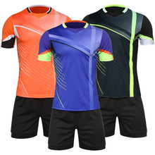 Men Football kit Survetement Training Football Jersey kit Tracksuit Soccer jerseys 2016 2017 Kits Football Shirt Clothing Sets(China)