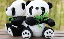 20 см panda плюшевые игрушки, один комплект/20 шт. panda игрушки обнял бамбука, призы ничью, детский Рождественский подарок, t8778(China)