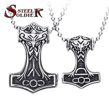 steel soldier drop ship stainless steel personality viking pendant popular European and American Men's Thor necklace
