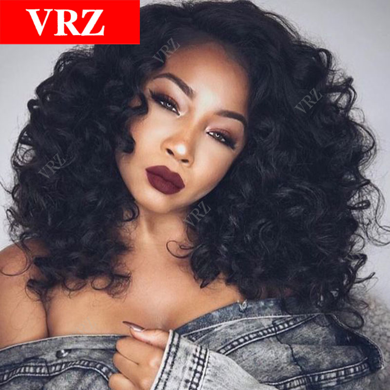 Virgin Brazilian Glueless Full Lace Human Hair Wigs Curly Lace Front Wigs with Baby Hair Wigs for Black Women Human Hair Wigs<br><br>Aliexpress
