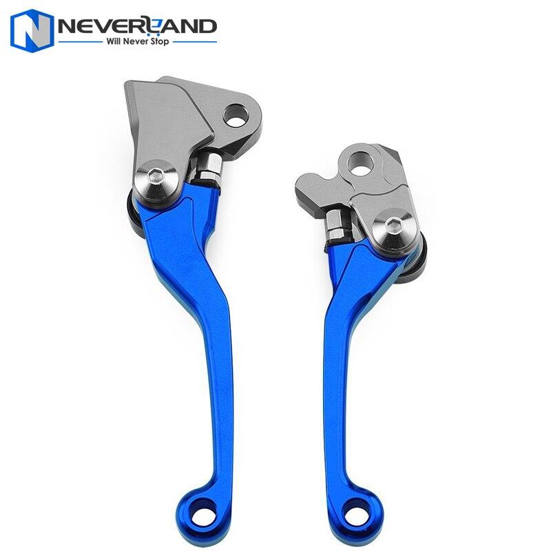 Blue CNC Pivot Brake Clutch Levers for Yamaha YZ 125 250 250F 426F 450F Kawasaki KX 125 250 250F 450F Suzuki RMZ250<br><br>Aliexpress