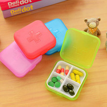 Home portable candy color cross medicine storage box easy carry organizer home demand case for candy jewelry ring(China)