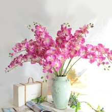 1 Head Romantic Butterfly Orchid Flower Silk Floral Party Wedding DIY Home Decoration LH8s(China)