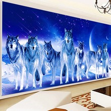 Full Diamond Painting Septwolves  Cross Stitch diamond embroidery Home Decoration Needlework mosaic wall stickers