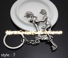 New 2017 Alternative Sexy Lover Metal Keychain Keyring Key Ring Chain Funny Toy Free Shipping