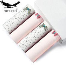 Buy 4pcs/lot Women Underwear Panties Women's Cotton Briefs Panty Solid Cute Bow Low-Rise Sexy Ladies Girls Cartoon Comfortable Srj