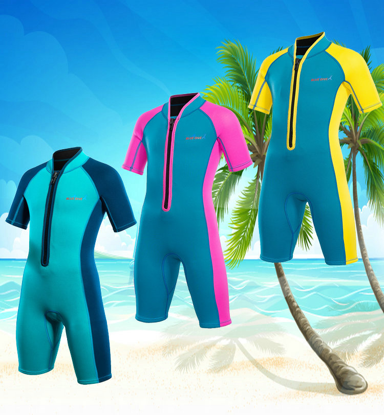 2018 Bikini Sets 2mm Diving Suit Children Wetsuit Swimwear Swimsuit Boys Girls Swimsuit Surfing Suit Children  Warming Surfing <br>