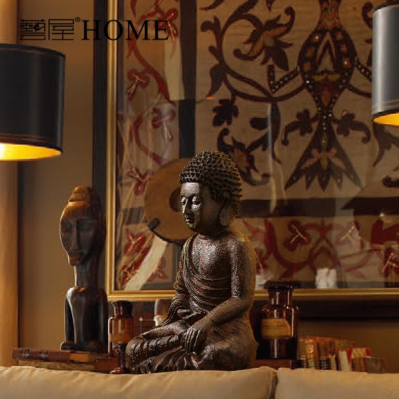 Aliexpress Com India Style Hand Made Resin Buddha Sculpture Home Furnishing Living Room Decoration Decor Luxury Ornaments From