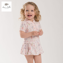 DB3937 dave bella summer baby teenis dress girls yellow sports dress  kids polo dress fancy stylish clothes