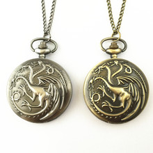 FANTASY UNIVERSE Freeshipping 1pc Game of thrones pocket watch necklace HYT25