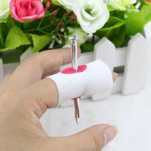 New Fake Nail Through Finger Trick Fun Prank Maker Novelty Funny Toy Trick Children Gags Essential in April Fool 's Day