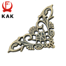 10PCS KAK Bronze Jewelry Box Book Butterfly Corner Bracket Antique Frame Accessories Notebook Menus Corner Decorative Protector