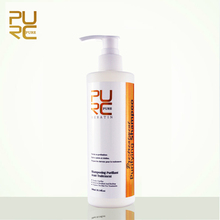 PURC Purifying shampoo keratin hair treatment deep cleaning shampoo 300ml hot sale free shipping hair salon products PURE(China)