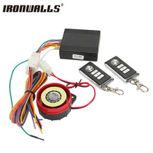 Ironwalls Motorcycle Alarm System 12V Moto Scooter Security Horn Anti-theft Remote Control For Yamaha Honda Suzuki Kawasaki Bike(China)