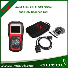 Fast Shipping Original Autel AutoLink AL519 OBD-II and CAN Scanner Tool English/Spanish/French with Top Quality(China)